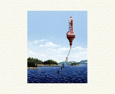 """Fanny Brennan Limited Edition Hand-Crafted Lithograph: """" Bell Aloft """""""