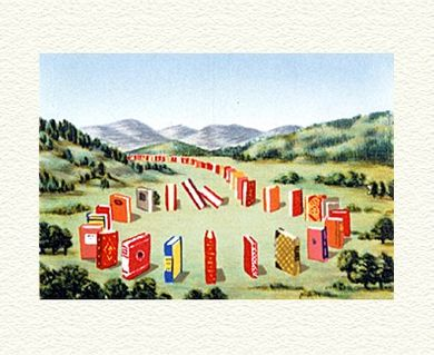 """Fanny Brennan Limited Edition Hand-Crafted Lithograph: """" Book Circle """""""