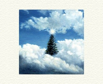 """Fanny Brennan Limited Edition Hand-Crafted Lithograph: """" Christmas Tree """""""