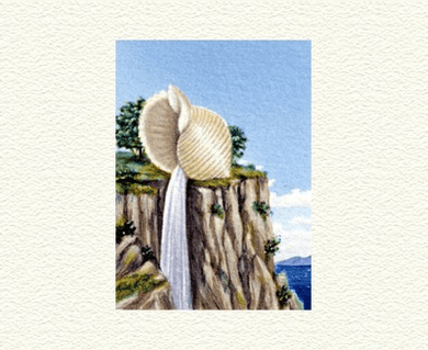 """Fanny Brennan Limited Edition Hand-Crafted Lithograph: """" Cliff Hanger """""""