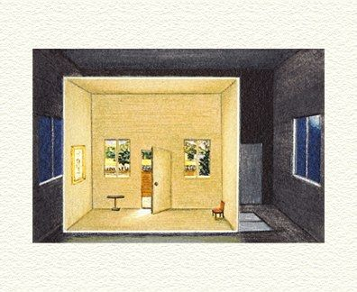 """Fanny Brennan Limited Edition Hand-Crafted Lithograph: """" Day Room """""""