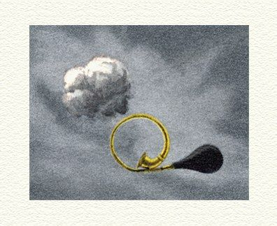 """Fanny Brennan Limited Edition Hand-Crafted Lithograph: """" Klaxon """""""