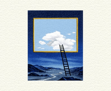 "Fanny Brennan Limited Edition Hand-Crafted Lithograph: "" Ladder """