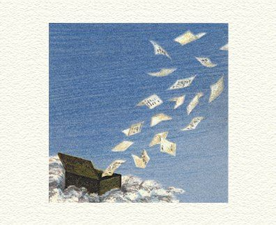 """Fanny Brennan Limited Edition Hand-Crafted Lithograph: """" Love Letters """""""