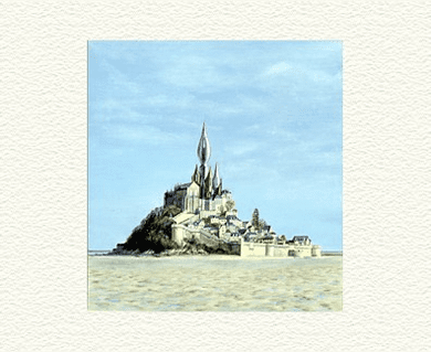 """Fanny Brennan Limited Edition Hand-Crafted Lithograph: """" Mont St. Michel """""""