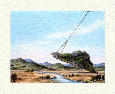 """Fanny Brennan Limited Edition Hand-Crafted Lithograph: """" Mountain Lift """""""