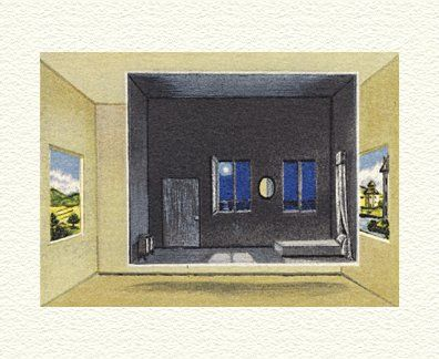 """Fanny Brennan Limited Edition Hand-Crafted Lithograph: """" Night Room """""""