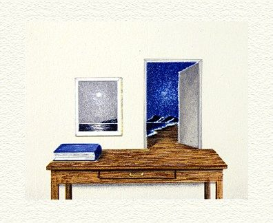"""Fanny Brennan Limited Edition Hand-Crafted Lithograph: """" Night Table """""""
