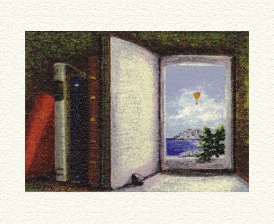 """Fanny Brennan Limited Edition Hand-Crafted Lithograph: """" Open Book """""""