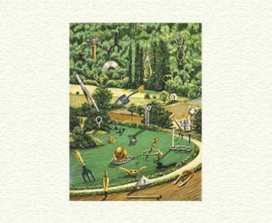 "Fanny Brennan Limited Edition Hand-Crafted Lithograph: "" Playground """