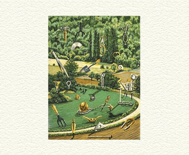"""Fanny Brennan Limited Edition Hand-Crafted Lithograph: """" Playground """""""