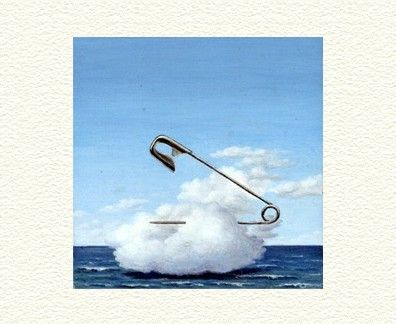 "Fanny Brennan Limited Edition Hand-Crafted Lithograph: "" Safety Pin Cloud """