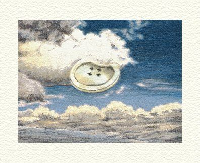 """Fanny Brennan Limited Edition Hand-Crafted Lithograph: """" Sky Button """""""