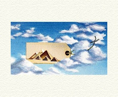 """Fanny Brennan Limited Edition Hand-Crafted Lithograph: """" Sky Trip """""""