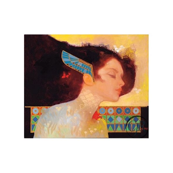 """Felix Mas Serigraph on Canvas; Hand Signed and Numbered: """"Jewel Egypt III"""""""