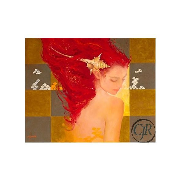 "Felix Mas Serigraph on Canvas; Hand Signed and Numbered: ""Sirena"""