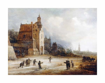"""Fine Art Open Edition Giclée:""""Soldiers Playing Skittles on a Road"""""""