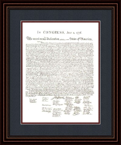 Founding Fathers Framed Art: \