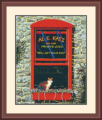 "Framed Art:""AL. E. Katz Limited Edition by Tom Neel"""