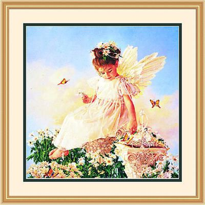 "Framed Art:""Butterfly Kisses by Jean Monti"""