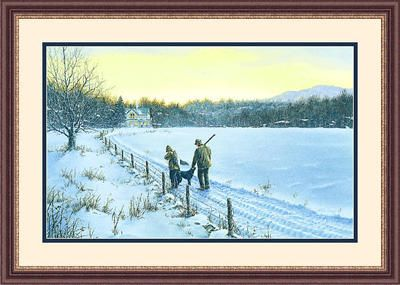 """Framed Art:""""Holiday Goose Limited Edition By Paco Young"""""""