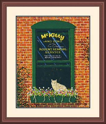 "Framed Art:""McKitty and Sons Limited Edition by Tom Neel"""