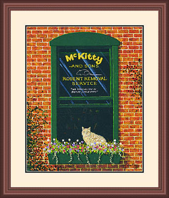 """Framed Art:""""McKitty and Sons Limited Edition by Tom Neel"""""""