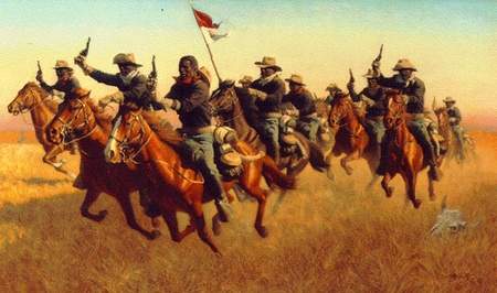 """Frank McCarthy Hand Signed and Numbered Limited Edition Print:""""Buffalo Soldiers: Advance As"""""""