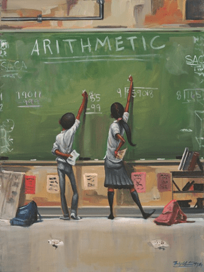 """Frank Morrison Hand Signed and Numbered Limited Edition Canvas Giclee:""""Arithmetic"""""""