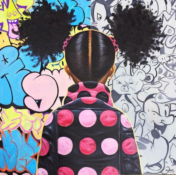 "Frank Morrison Hand Signed and Numbered Limited Edition Canvas Giclee:""Graffati Pop and Locs"""