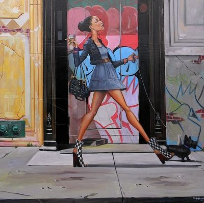 """Frank Morrison Hand Signed and Numbered Limited Edition Canvas Giclee:""""Say La Vee"""""""