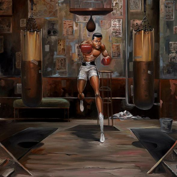 """Frank Morrison Hand Signed and Numbered Limited Edition Canvas Remarque Giclee:""""Float Like A Butterfly"""""""