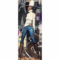 """Frank Morrison Hand Signed and Numbered Limited Edition Giclee:""""Hat and Soul"""""""