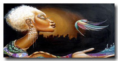 """Frank Morrison Hand Signed and Numbered Limited Edition Giclee:""""I Believe I Can Fly"""""""