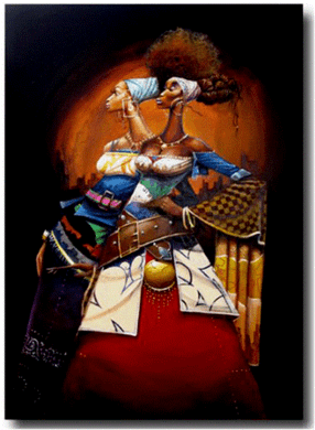 """Frank Morrison Hand Signed and Numbered Limited Edition Giclee:""""Poud Divas"""""""
