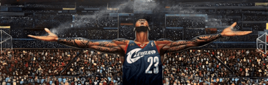 """Frank Morrison OverSize 18x60 Limited Edition Canvas Giclee:""""The Return of The King Lebron James"""""""