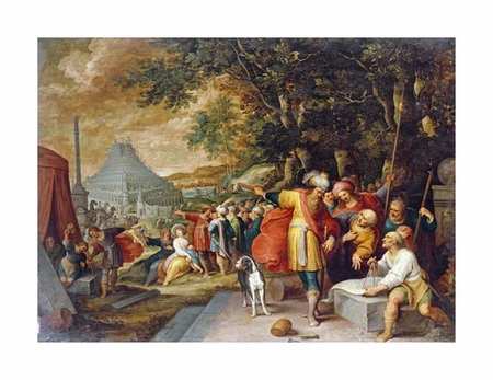 """Frans Francken II Fine Art Open Edition Giclée:""""The Building of the Tower of Babel"""""""