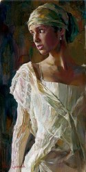 "Garmash, Michael & Inessa Handsigned and Numbered Limited Edition Giclee on Canvas:""Gentle Light"""