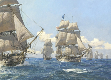"""Geoff Hunt Hand Signed and Numbered Limited Edition Print: """"West  Indies Squadron"""""""