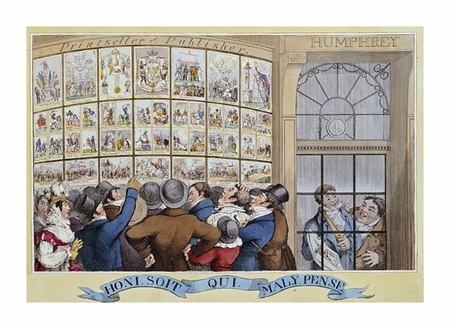 """George Cruikshank Fine Art Open Edition Giclée:""""The Attorney-Generals Charges Against the Late Queen"""""""