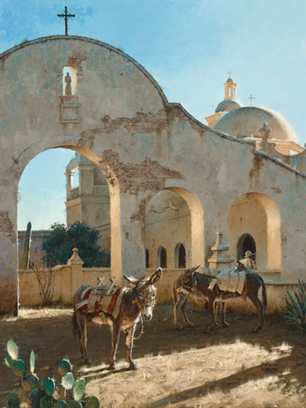 """George Hallmark Hand Signed and Numbered Limited Edition Giclee on Paper and Canvas :""""Shadow of San Xavier """""""
