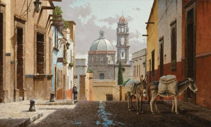 """George Hallmark Handsigned and Numbered Limited Edition:""""Buenos Dias San Miguel"""""""
