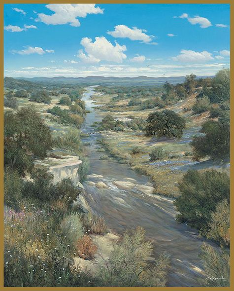 "George Kovach Limited Edition Museum Quality Giclée: ""Llano Overlook"""