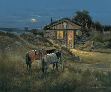 "George Kovach Limited Edition Museum Quality Giclée: ""Waylon's Place"""