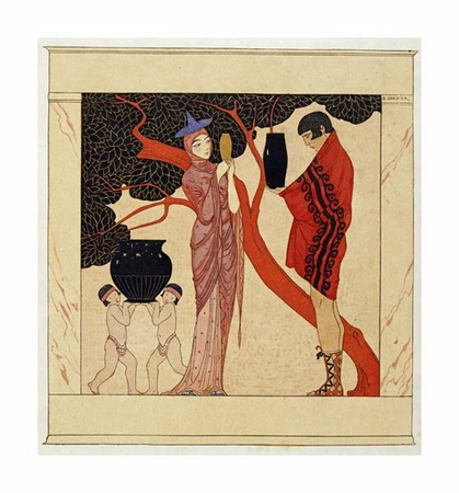 "Georges Barbier Fine Art Open Edition Giclée:""The Red Tree"""