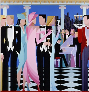 """Giancarlo Impiglia Limited Edition Serigraph on Paper: """" An Evening to Remember """""""