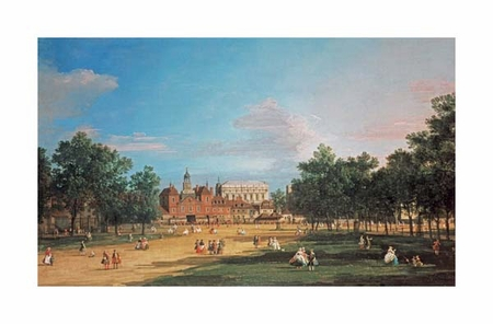 """Giovanni Antonio Canal Fine Art Open Edition Giclée:""""London: The Old Horse Guards and the Banqueting Hall"""""""