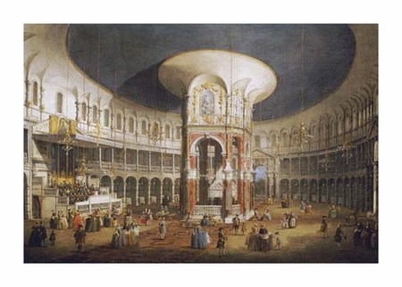 "Giovanni Antonio Canal Fine Art Open Edition Giclée:""The Interior of the Rotunda, Ranelagh"""