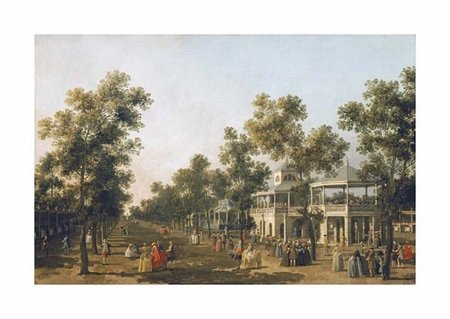 "Giovanni Antonio Canal Fine Art Open Edition Giclée:""View of the Grand Walk, Vauxhall Gardens"""