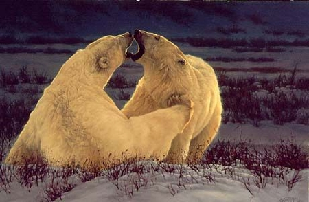 """Greg Beecham Handsigned & Numbered Limited Edition Print:""""Polar Attraction """""""